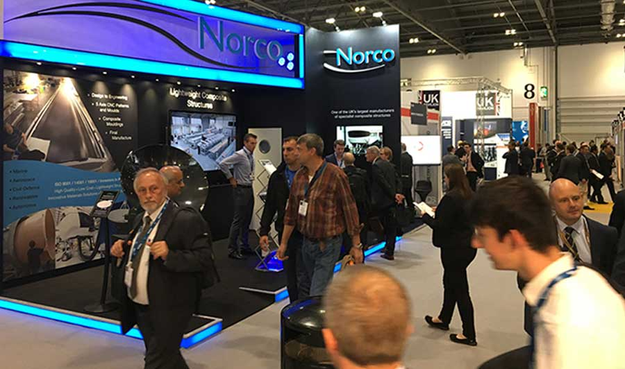 Visitors around the NORCO stand