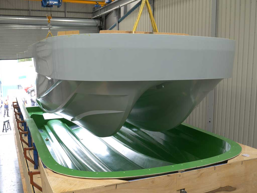 15m Atlas Hull Demoulded