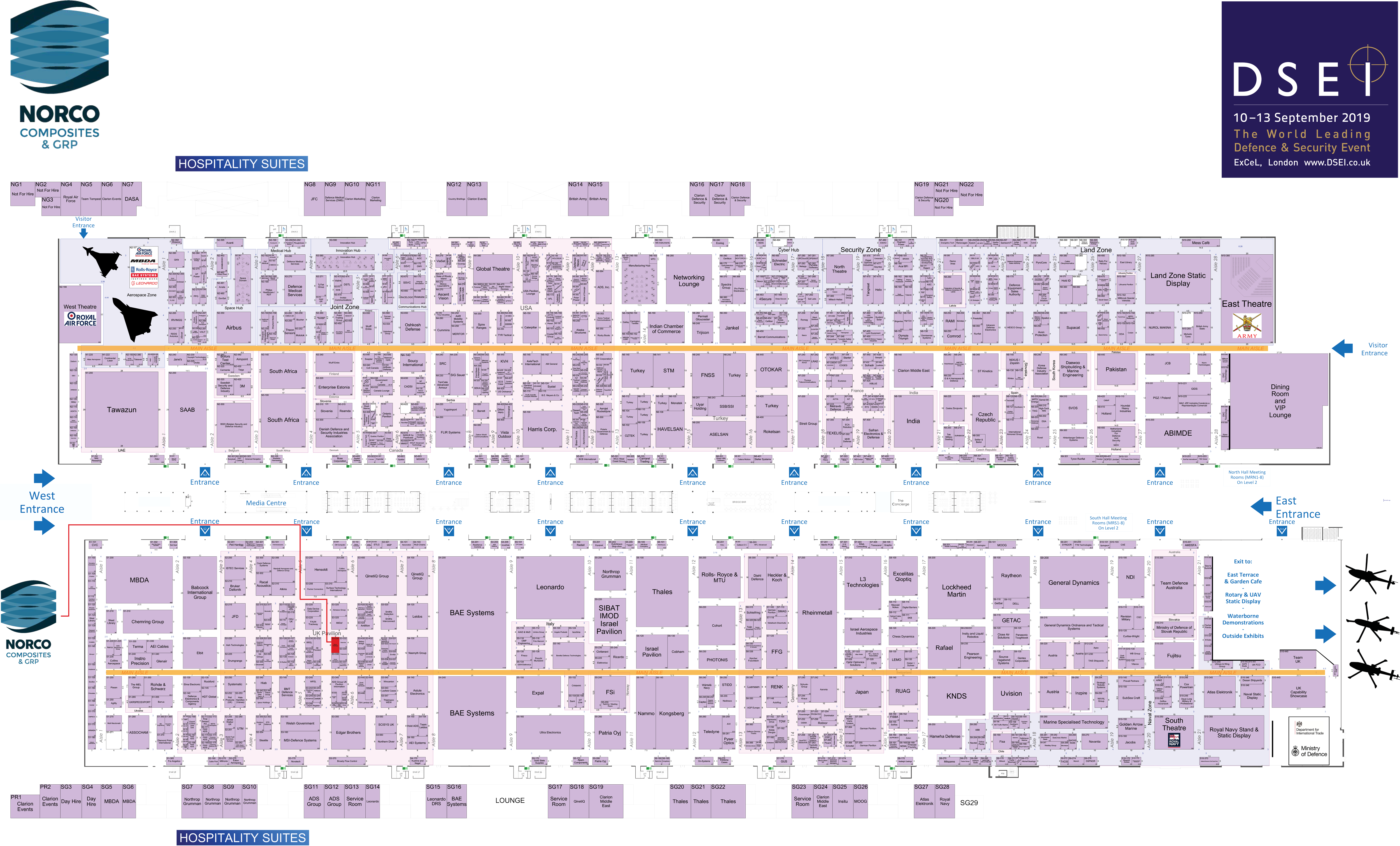Dsei 2019 Floor Plan Norco Composites Grp