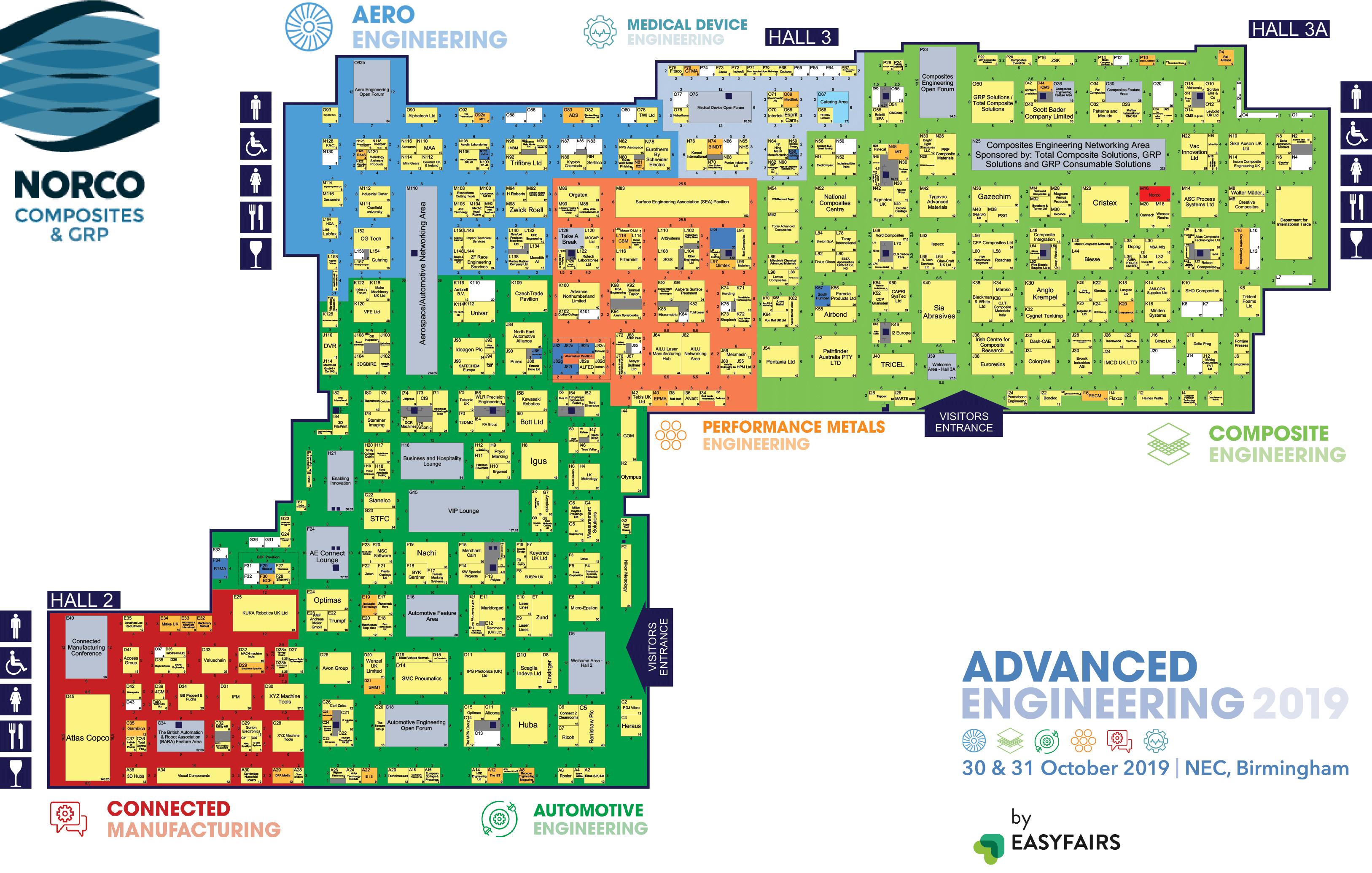 Advanced Engineering 2019 Floor Plan Norco Composites Grp