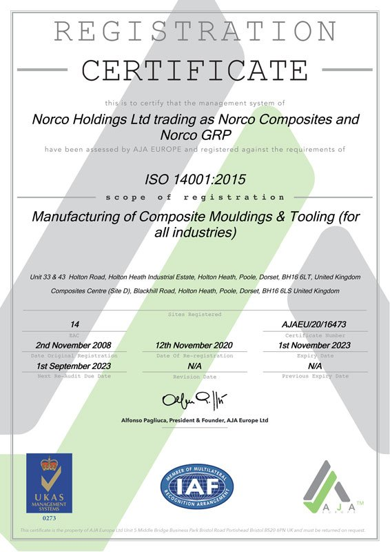 ISO-14001 Certificate
