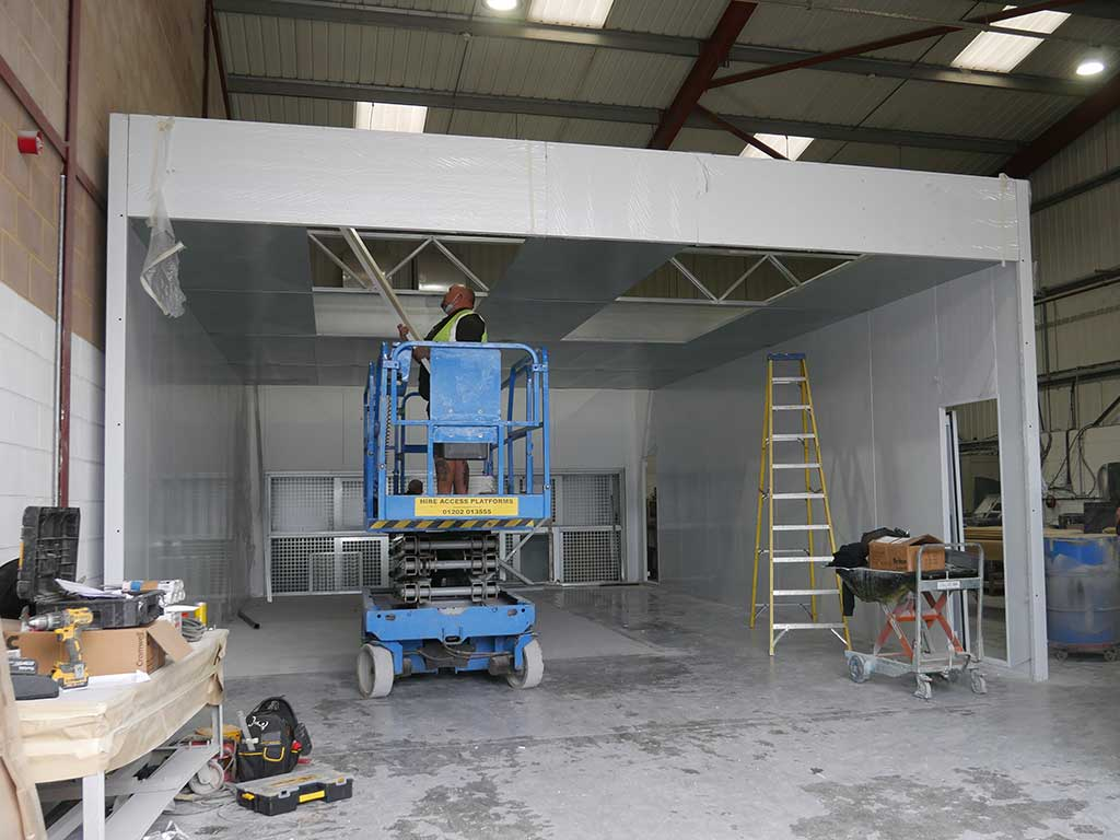 Building New Spray Booth - NORCO Composites & GRP
